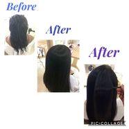 ケアルーガ縮毛矯正(魔法のストレート)を体験されたお客様の施術前、施術後をご覧ください