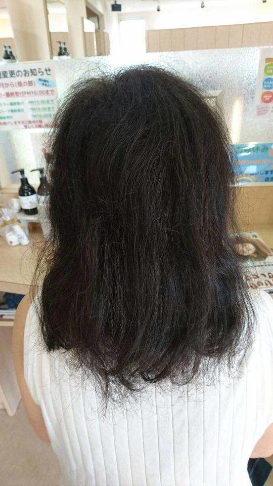 縮毛矯正 表面